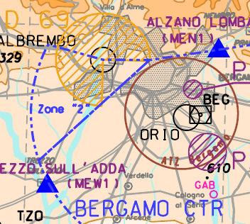 Informazioni aeronautiche di Valbrembo e Alessandria