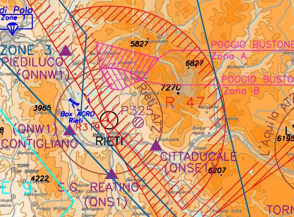 Informazioni aeronautiche di Siena e Rieti